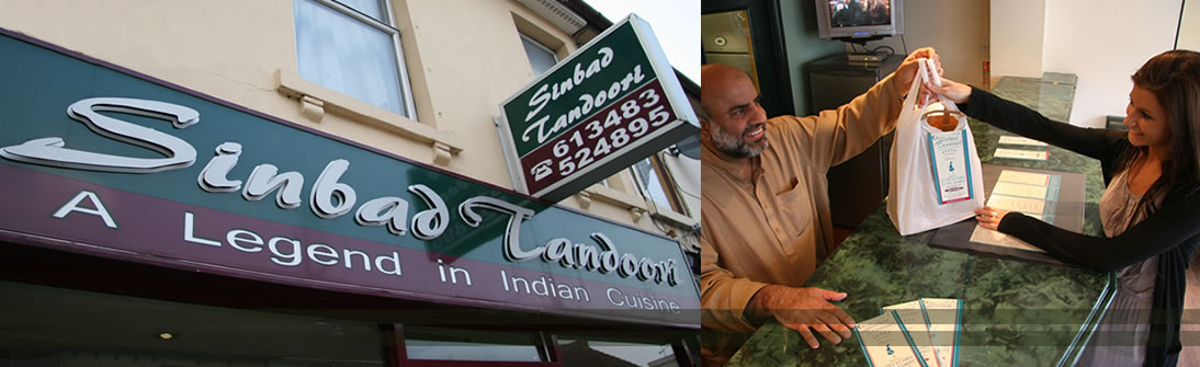 Service - Sinbad Tandoori Indian Takeaway Swindon | FREE Curry Delivery Swindon